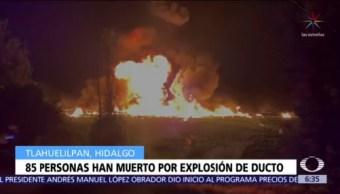 85 muertos en Tlahuelilpan, Hidalgo, por explosión de toma clandestina