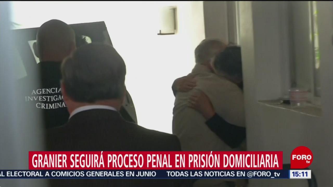 Andrés Granier llega a su casa de Coyoacán, CDMX