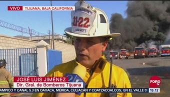 Bomberos Combaten Incendio En Nave Industrial En Tijuana, Bomberos, Combaten Incendio, Nave Industrial, Tijuana, Incendio En Una Nave Industrial, Zona Fronteriza, Baja California