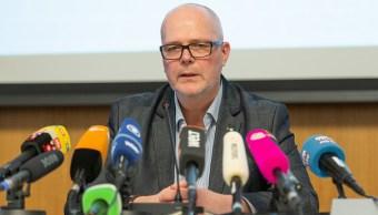 Foto: El detective jefeGunnar Weiss habla en una conferencia de prensa sobre los arrestos relacionados con el abuso sexual a menores, 30 de enero 2019