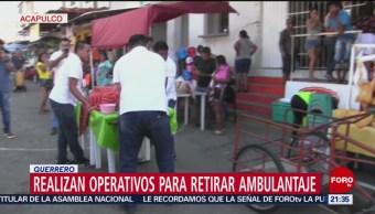 Acapulco Realiza Operativos Para Ordenar Comercio Informal, Dirección De Vía Pública Del Puerto De Acapulco, Ordenar Comercio Informal