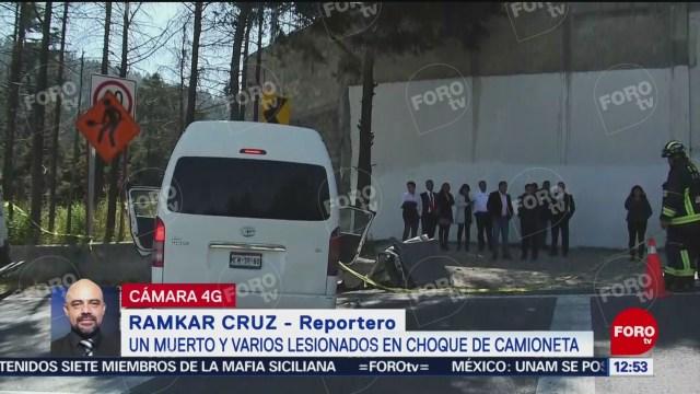 accidente en la mexico toluca deja un muerto