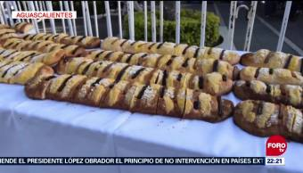 Aguascalientes prepara rosca de Reyes de más de mil metros