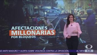 Afectaciones millonarias por bloqueos de la CNTE