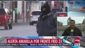Alerta amarilla en Chihuahua por frente frío 23, Alerta amarilla, Chihuahua, frente frío 23, bajas temperaturas,