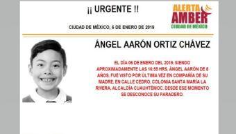 Alerta Amber para localizar a Ángel Aarón