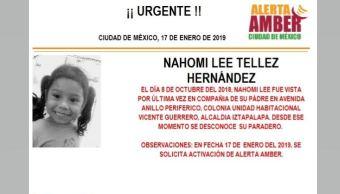 Alerta Amber para localizar a Nahomi Lee