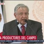 AMLO ofrece apoyo a productores del campo en Zacatecas