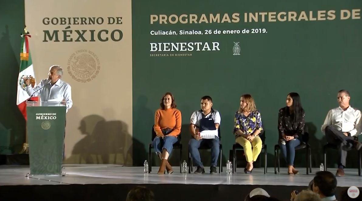Foto: AMLO dijo en Sinaloa que trabajará para que las familias conozcan el paradero de sus familiares desaparecidos el 28 de enero de 2019