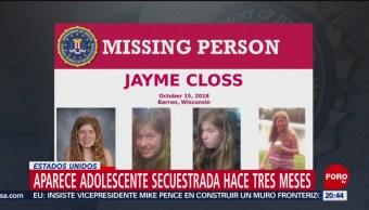 Aparece Adolescente Secuestrada Hace Tres Meses EU