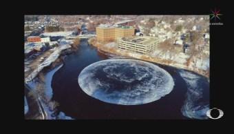 Aparece Gigante Círculo Hielo Oregon Estados Unidos