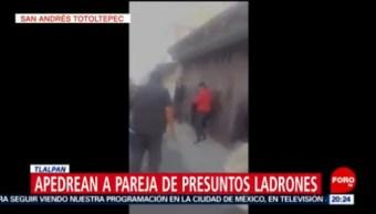 Apedrean Pareja Presuntos Ladrones En Tlalpan