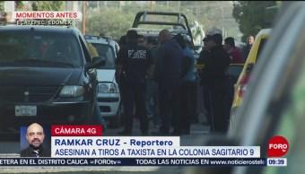 Asesinan a taxista en Ecatepec, Edomex