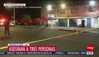 Asesinan A Tres Personas En Vinatería De Guadalajara, Asesinan A Tres Personas, Vinatería, Guadalajara, Colonia Patria Nueva, Guadalajara,