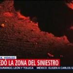 Así quedó la zona del siniestro en Tlahuelilpan, Hidalgo