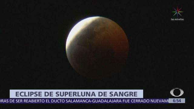 Así se vio el eclipse lunar total en la CDMX
