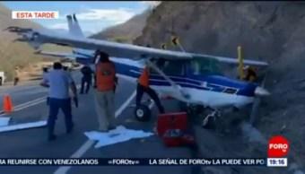 Foto: Aterriza Avioneta Emergencia Carretera Guerrero 30 de Enero 2019