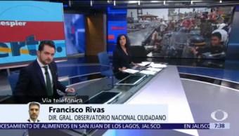 Aumentaron homicidios y robos durante diciembre en México: Francisco Rivas