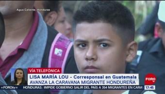 Autoridades contienen a menores de edad que viajan solos en caravana