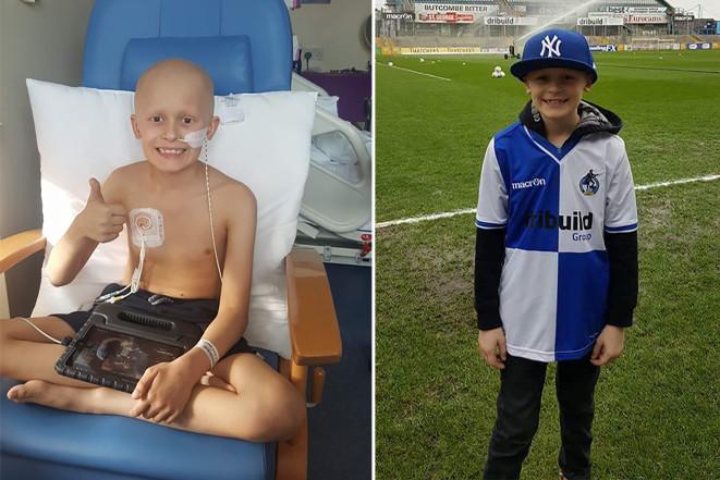 Bailey sobrevivió a un agresivo tratamiento contra el cáncer lo suficiente como para conocer a su equipo favorito de futbol y a su hermana menor (NYPost)