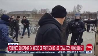 Boxeador anti Macron reconoce error de golpear a policías en Francia