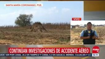 Buscan Pieza De Helicóptero Siniestrado De Gobernadora De Puebla, Helicóptero Siniestrado De Gobernadora, Puebla, Santa María Coronango, Martha Erika Alonso
