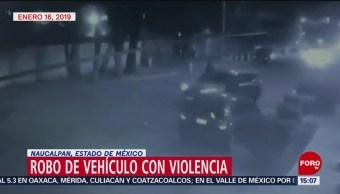 Captan robo con violencia de una camioneta en Naucalpan