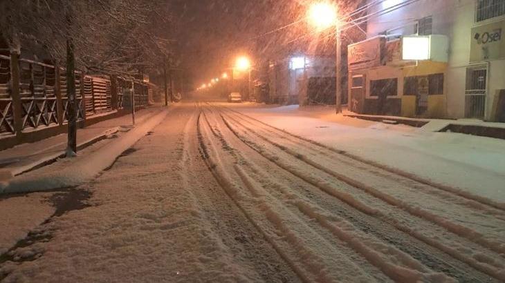 Capturan imágenes de intensa nevada en Nogales, Sonora