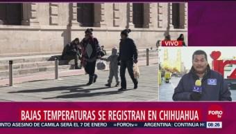 Chihuahua registra temperaturas de hasta menos 12 grados centígrados