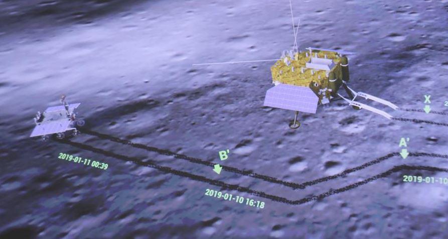 china difunde imagenes crateres lado oscuro luna