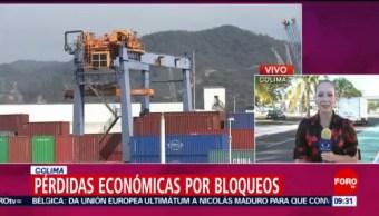 Foto, 26 enero 2019, Colima registra pérdidas económicas por bloqueos ferroviarios