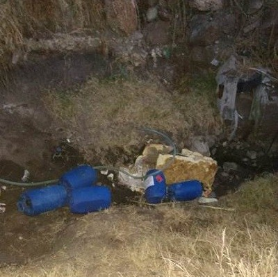 Aseguran toma clandestina y 360 litros de combustible en León, Guanajuato