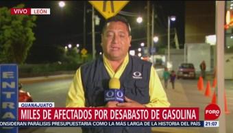 Combustible en gasolineras de León, Guanajuato, es insuficiente