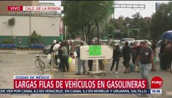 Conductores desesperados por falta de combustible en la CDMX