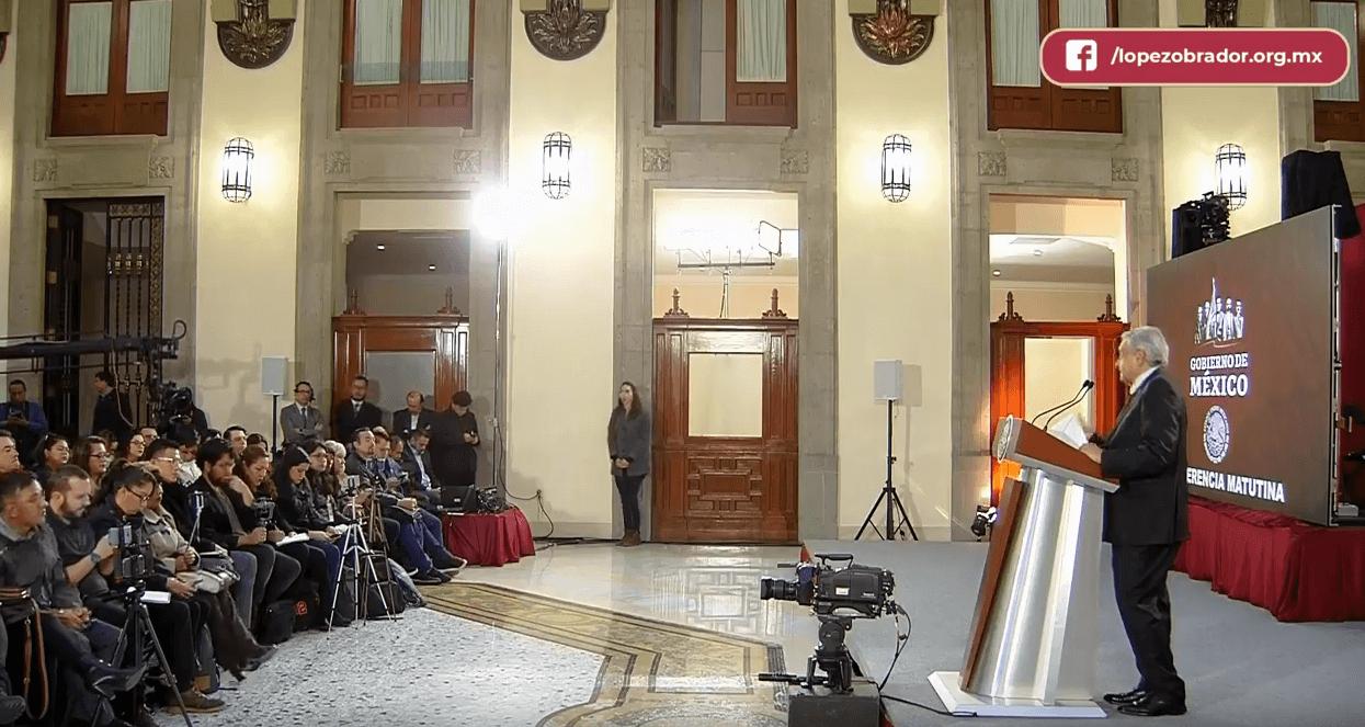 Conferencia matutina de López Obrador. (YouTube)