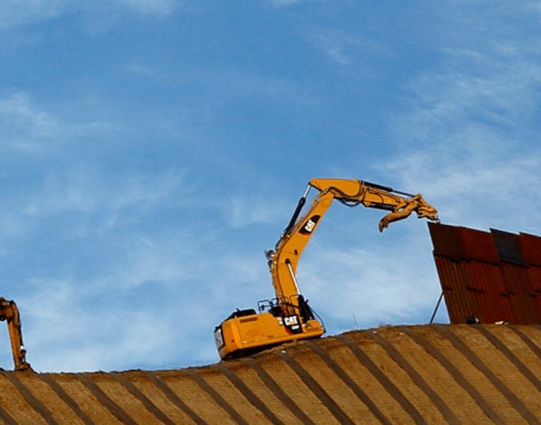 Foto: Empresa construye muro metálico en la frontera sur de Estados Unidos, 24 de enero 2019