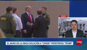 Construir muro con México, la única solución a la crisis fronteriza, dice Donald Trump