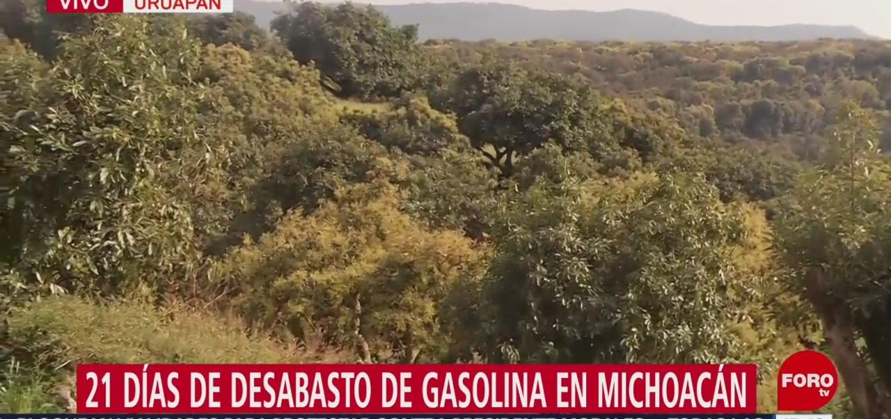 Continúa el desabasto de combustible en Michoacán