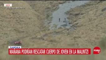 Continúan trabajos para recuperar cuerpo de joven en barranco de Tlaxcala