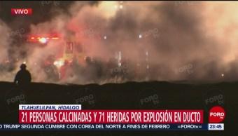 Controlan Incendio Tras Explosión En Tlahuelilpan