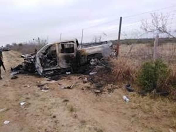 localizan 20 cuerpos y vehiculos calcinados en miguel alemán tamaulipas