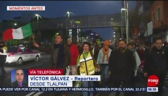 Damnificados del sismo del 19S se manifiestan sobre Tlalpan, CDMX