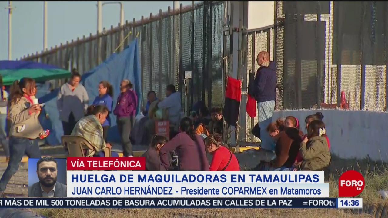 Foto: Daños incuantificables por huelga en maquiladoras, acusa Coparmex