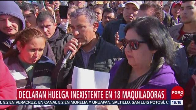 Foto: Declaran Huelga Inexistente Maquiladoras Matamoros 30 de Enero 2019