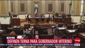 Definen en Puebla terna para nombrar gobernador interino