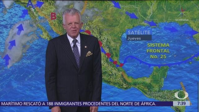 Despierta con Tiempo: Tormentas fuertes por frente frío 25