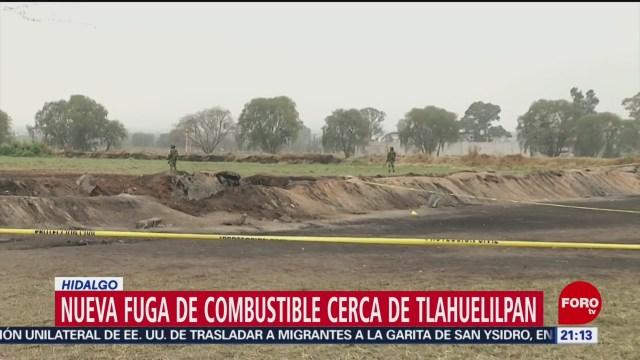 FOTO: Detectan nueva fuga de combustible en Tlahuelilpan, Hidalgo