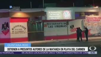 Detienen a 5 personas por ataque a bar de Playa del Carmen