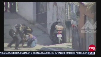 Detienen a dos por presunta portación ilegal de armas de fuego en Ecatepec