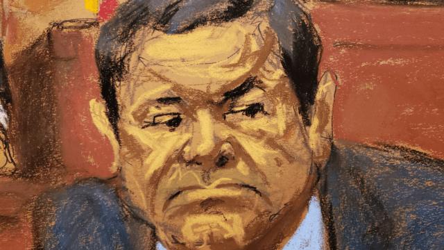 Foto: Dibujo de Joaquín 'El Chapo' Guzmán, 2 febrero 2019